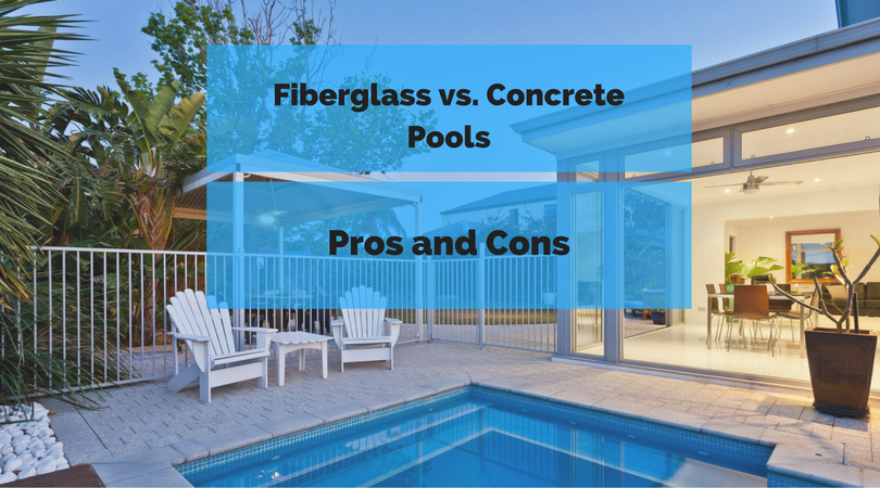 Fiberglass vs concrete pools pros and cons - Concrete swimming pools vs fiberglass ...