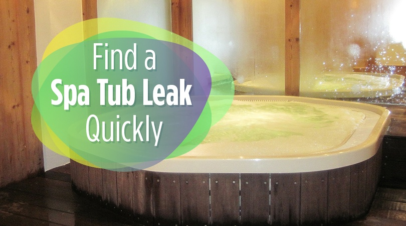 Find a Spa Tub Leak Quickly