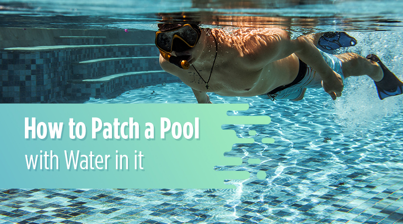 How to Patch a Pool with Water in it