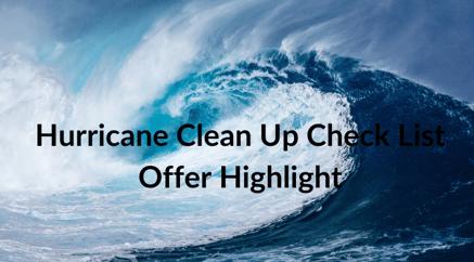 Hurricane Clean Up Check List Offer Highlight